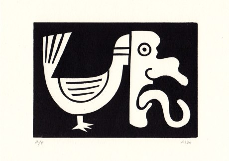 i will be you now. linocut
